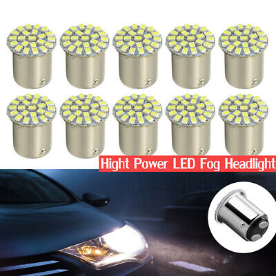 10X White 1157 BAY15D 22 1206 LED Brake Turn Signal Light Bulb Lamp E015