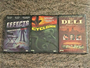 3-NEW-Synapse-Horror-Exploitation-DVD-Lot-Effects-Cyclone-The-Deli-RARE-OOP