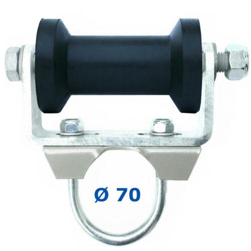 ⚓ U-Halter inkl Kielrolle 120 mm für Rundrohr Ø 60//70 mmSliphilfe Trailer