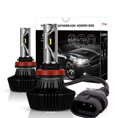 Pair H11 H8 H9 LED Headlight Kit Bulbs 1800W 270000LM 6500K Pure White Car Lamp
