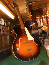 "VINTAGE KAY 16"" JAZZ ACOUSTIC ARCHTOP GUITAR Case Harmony"