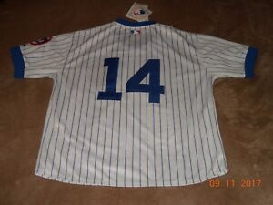 new product c7632 805d9 Majestic ERNIE BANKS Chicago Cubs Baseball Jersey, size 50 ...
