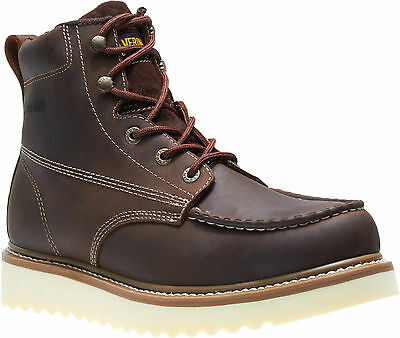 "Men Wolverine Loader 6"" Leather Non Steel Work Boot W10744 Brown 100% Authentic"