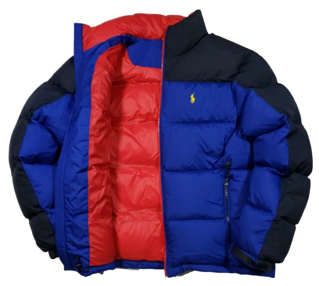 49c890108e Polo Ralph Lauren Men s Royal Blue Navy Water Repellent Down Puffer Ski  Jacket