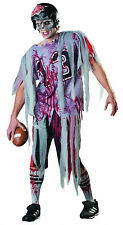 MENS ZOMBIE AMERICAN FOOTBALL COSTUME & MASK FANCY DRESS HALLOWEEN OUTFIT NEW