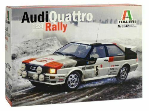 Italeri Audi Quattro Rally Monte-Carlo 19811:24 Kit Model Set Art 3642