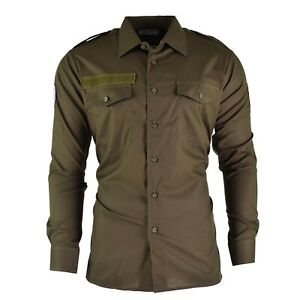Genuine-Austrian-army-shirt-M65-OD-Military-combat-long-sleeve-Olive-BDU-NEW