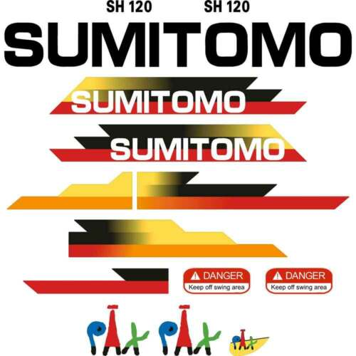 Sumio SH1203 Decals Stickers New Repro Kobelco Decal Kit