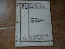 Hyster Electric Forklift N30 N40 N50ca 40cr Parts Manual