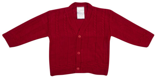 BABYTOWN Baby Boy New Knitted Cardigan Sweater Button Up Christening Newborn