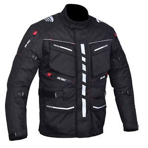 Moto-Motocicleta-Chaqueta-de-Cambridge-Cordura-Textil-armadura-CE-aprobado