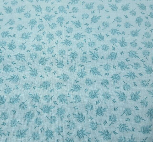 "13"" Compose Flowers & Leaves by David Textiles Winter Sky Tone on Tone Blender"