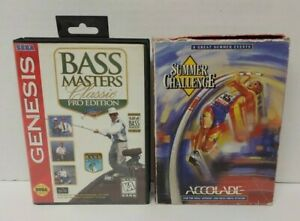 Bass-Masters-Fishing-Summer-Challenge-Sega-Genesis-Games-Working-2-Game-Lot