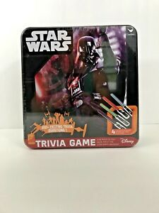 Star Wars Trivia Game Disney in Tin Box 650+ Exciting Trivia Questions NEW