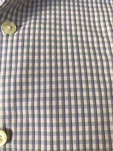 Egara-Mens-17-34-35-Purple-Gingham-Check-Egyptian-Cotton-Button-Up-Dress-Shirt