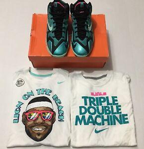 "8631f0099ff936 Nike Lebron XI 11 (GS) ""SOUTH BEACH"" Shoes (5Y) Shirts (Boys L ..."