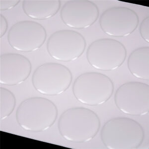 100pc Round 3D Crystal Stickers Clear Epoxy Adhesive Circles Pullo Cap Sticker