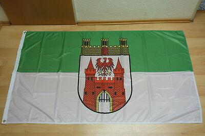 120x80 cm Brandenburg Fahne mit Wappen Hissfahne aus rei/ßfestem Polyester Deitert Bundesland-Flagge Brandenburg
