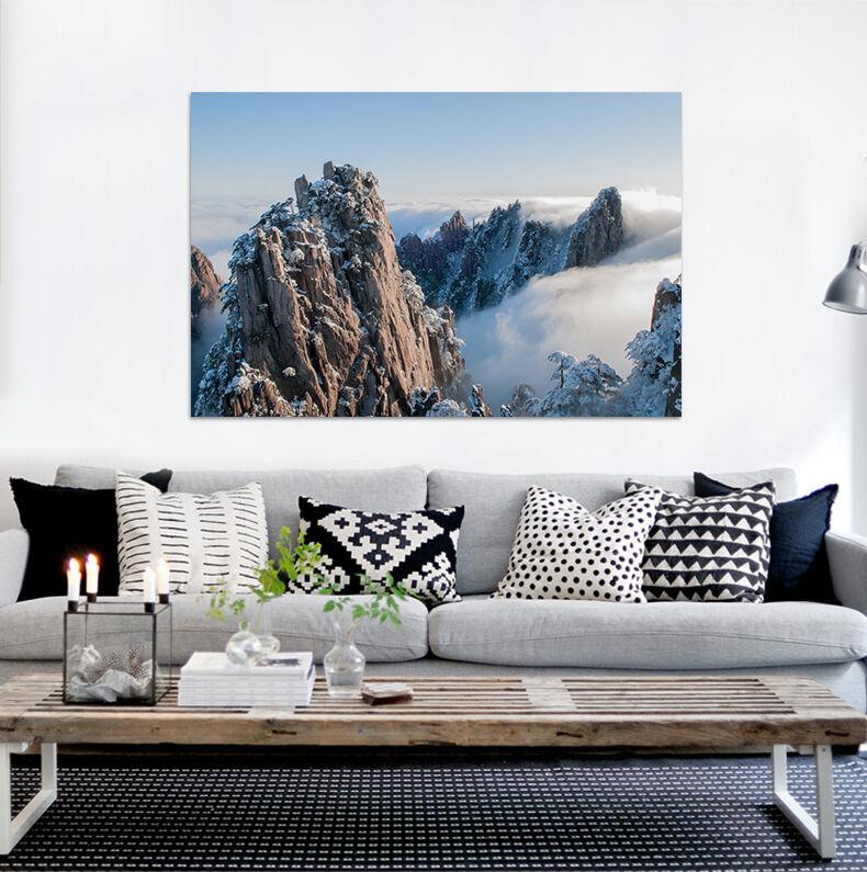 3D Hohe Berg Nebel Himmel 854  Fototapeten Wandbild BildTapete AJSTORE DE Lemon