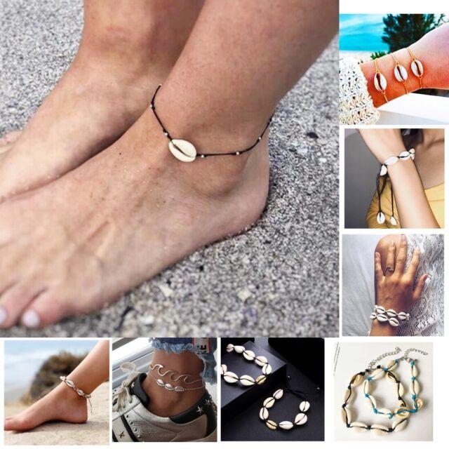 """10/"""" Women Girl Silver Star Shell Sea Turtle Anklet Beach Sandal Ankle Bracelet"""