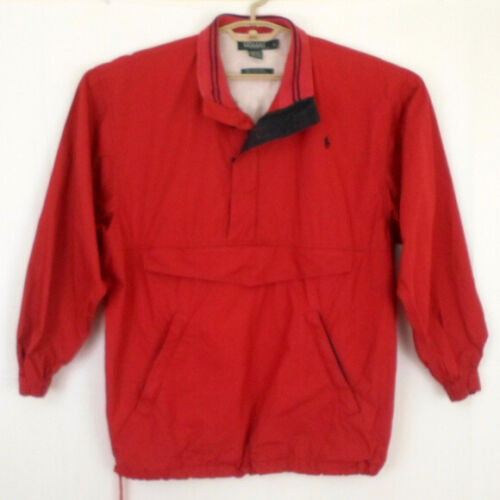 POLO RALPH LAUREN Mens Red 1/2 Zip Popover Windbre