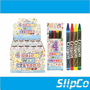 Smiles Stationary 19 x packs of 8 Wax Crayons Art Coloring Party Fillers