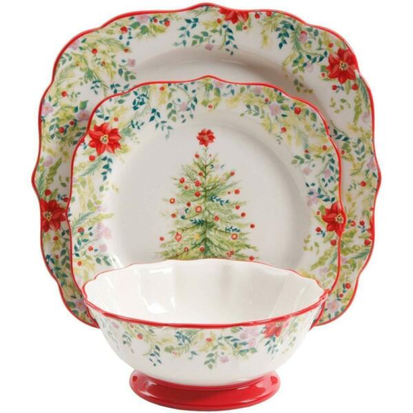 12 piece dinnerware set the pioneer woman holiday. Black Bedroom Furniture Sets. Home Design Ideas
