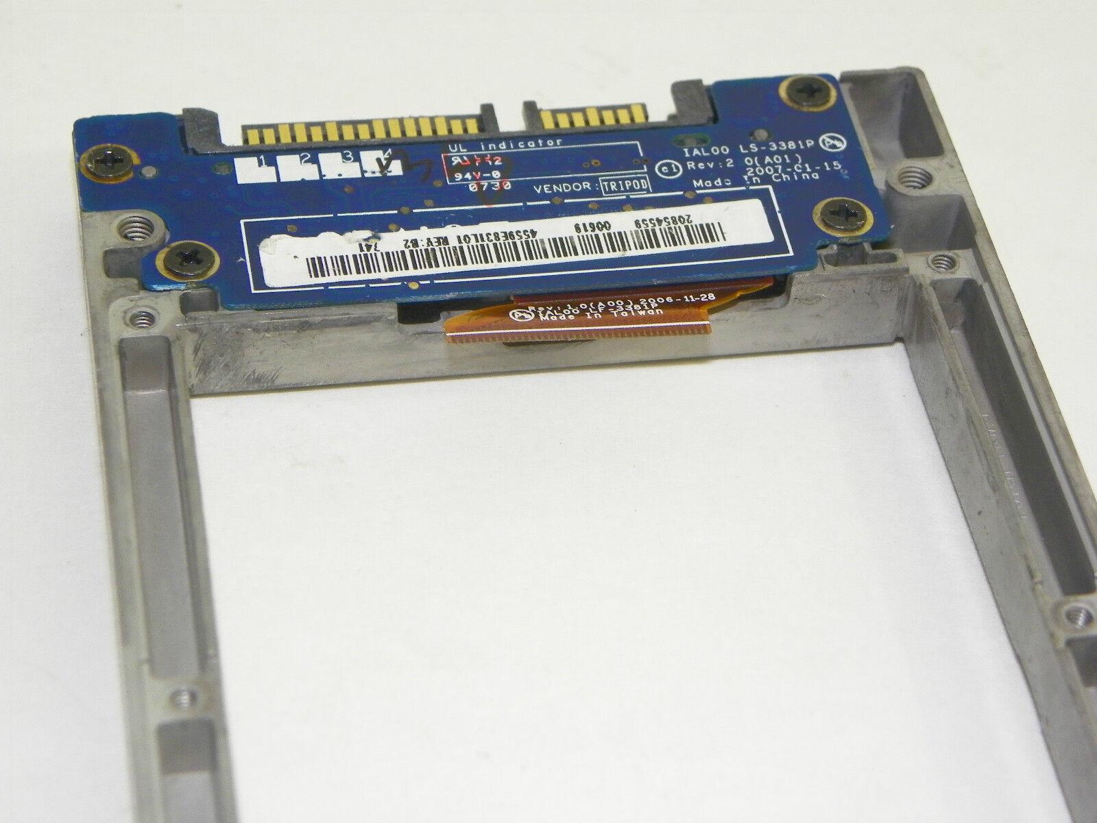 "Dell Latitude D630 Caddy for 1.8/"" ZIF SSD W D630 Bezel GX466 H433C YY432 MM590"