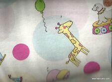 Circus animals dot children's flannel Blank fabric