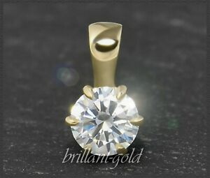 Diamant-Solitaer-Anhaenger-Brillant-0-57ct-River-D-amp-Si1-585-Gold-Damenanhaenger