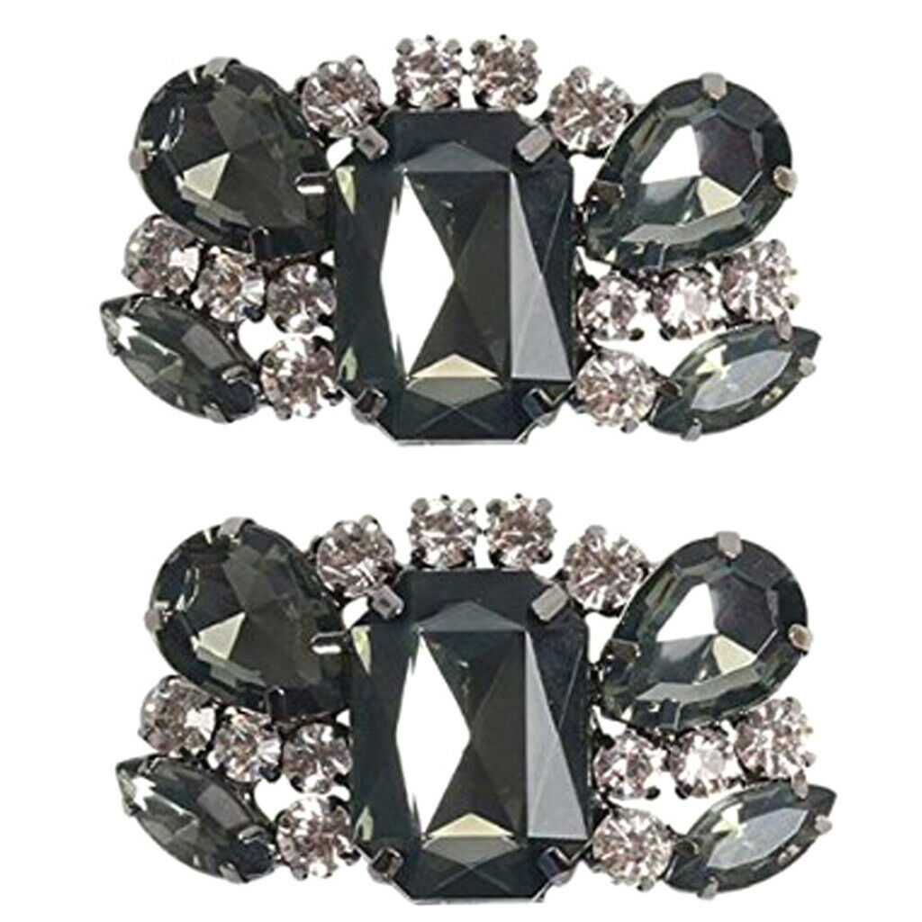 1 Pair Of Diy Rhinestone Shoe Clips Shoe Jewelry Decor For Bridal Shoe Wedding