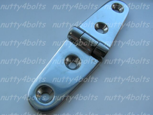 Heavy Duty 316 Stainless Steel Marine Boat Square Door Hinges 50 x 50mm