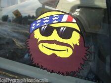 Redneck Smiley Face Icon Emoji Emoticon Funny Sticker Duck Hunting Bandana Beard