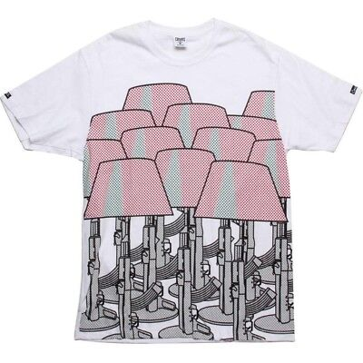Clothing, Shoes & Accessories Disciplined Crooks And Castles Starck Reality White T Shirt 750706wht