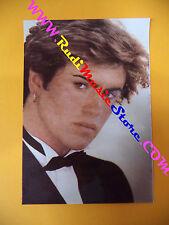 CARTOLINA PROMOZIONALE POSTCARD GEORGE MICHAEL Wham 9x13 cm no*cd dvd lp mc