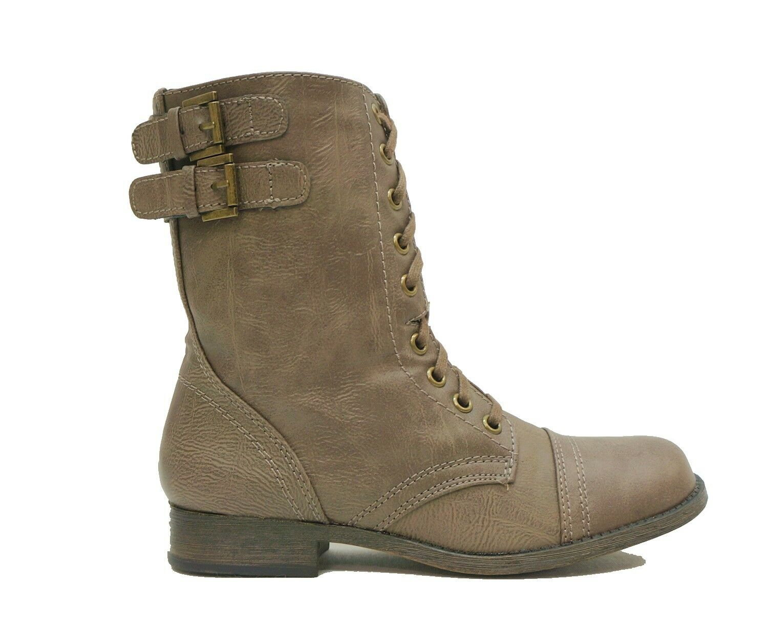 Rampage Taupe Lace Up Ankle Boots Booties JAYCER Women's Shoes US 6,6.5