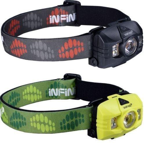 Infini Hawk 100 Lampe Frontale   7 Modes   3 Watt white & red Leds