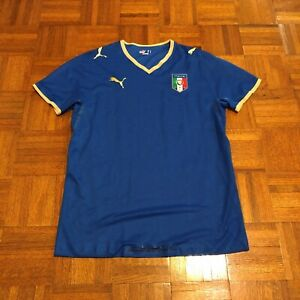 wholesale dealer 24988 7da65 Details about 2008 Italy National Soccer Team FIFA L Player Issue Puma  Futbol Jersey Italia