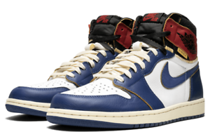 new product 838a4 11d70 Image is loading Jordan-1-Retro-High-Union-Los-Angeles-Blue-