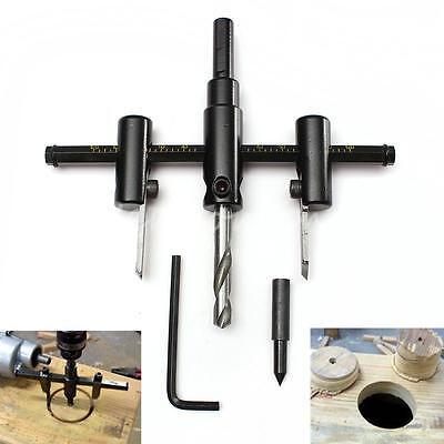 Adjustable Metal Wood Circle Hole Saw Drill Bit Cutter Kit DIY Tool 30mm-120mm