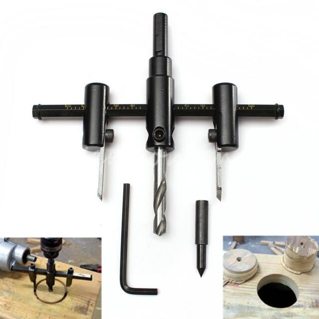 Adjustable metal wood circle hole saw drill bit cutter kit diy tool MW