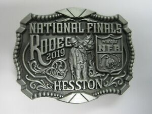 Small Cowboy Buckle New Wrangler National Finals Rodeo Hesston 2015 NFR Youth
