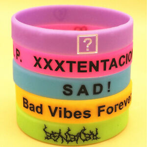 Details About Xtentacion Silicone Wristband Bracelets Jahseh Dwayne Onfroy Hip Hop Luminous