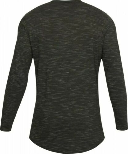 Under Armour UA Mens Long Sleeve Shirt Sports Gym Workout SMALL Green R333-25