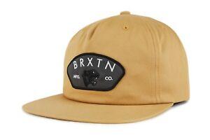 NWT-Brixton-Mens-Waylon-Snapback-Cap-HAT-OSFM-Men-039-s-Adjustable-Copper-BX63