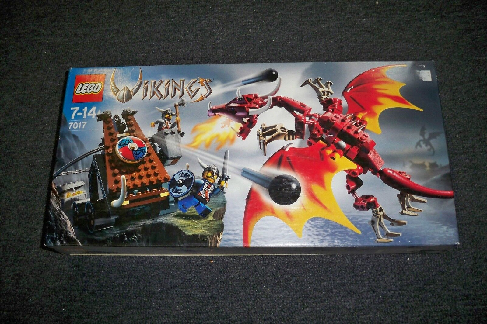 Lego Wikinger, 7017, Katapult und Drache