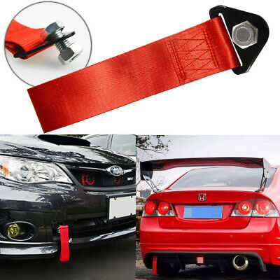 JDM Red Racing Sports Tow Towing Strap Hook For Front//Rear Bumper High Strength