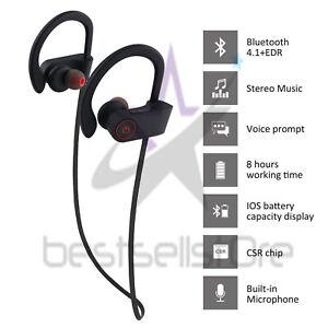 Waterproof Bluetooth Earbuds Stereo Sports Wireless Headphones In Ear Headset Ebay