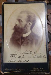 Komponist Carl Bohm (1844-1920): CAB-Foto mit Widmung Berlin 1888, Autograph