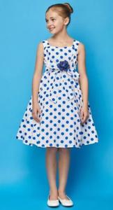 b519d661e35 Polka Dot Flower Girl Dress Little Girl s Sleeveless Summer Cotton ...